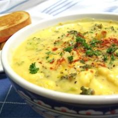 Tim Perrys Soup (Creamy Curry Cauliflower and Broccoli Soup) - Allrecipes.com