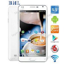 "M-HORSE N9000W 5.5"" MTK6572 Dual Core Android 4.2.2 Unlocked Smart 3G Phone 5MP CAM 512MB RAM 4GB ROM P07-BMN9W"