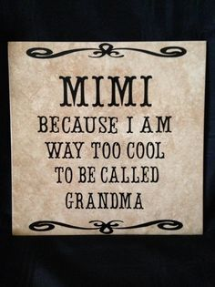 MIMI because I am way too cool to be called by SteelHorseGifts