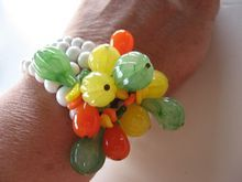Fabulous- unsigned Haskell bracelet- Glass fruit