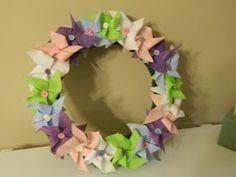 Loopy Loop Creations: Pinwheel Spring Wreath
