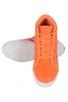Men-TIMOTHY-Mid-Ankle-Orange-Casual-Sneakers