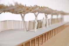 Mark Lea laser cut architecture model