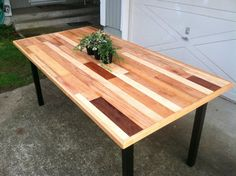 Modern Custom Dining Table Reclaimed Wood and by TandOFurnitureCO, $850.00