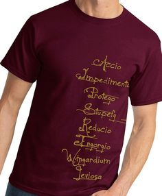 Harry Potter Spells Shirt by kebullock on Etsy