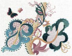 Jacobean Crewel Embroidery
