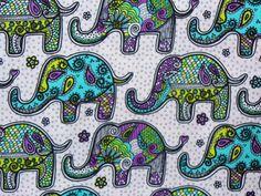 Elephant Fabric / Mosaic Elephant