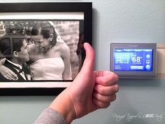 Conquer erratic weather with a programmable thermostat that you can control with your smart phone!