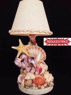 Sea shell Lamp . Buy 1 Get 2nd 30% Off