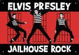 Elvis Jailhouse Tin Sign Placa de lata