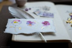 Watercolor pansies b