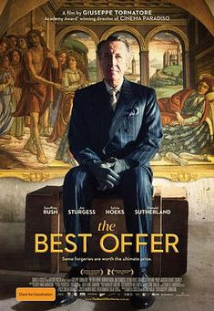 Directed by Giuseppe Tornatore. With Geoffrey Rush, Jim Sturgess, Sylvia Hoeks, Donald Sutherland. A lonely art expert working for a mysterious and reclusive heiress finds not only her art worth examining. Donald Sutherland, Films Cinema, Cinema Posters, Movie Posters, Liya Kebede, Great Films, Good Movies, 2016 Movies, Love Movie