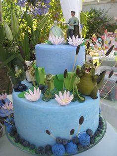 The Princess and the Frog birthday cake