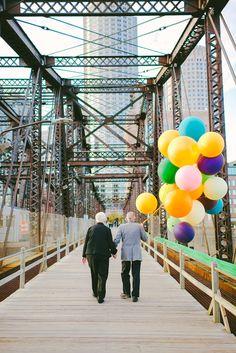 les 61 ans de mariage de nina et gramps photoshoot version la haut pixar 8   Un couple célèbre ses 61 ans de mariage façon là haut   vieilli...