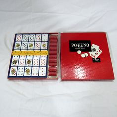 Vintage Po-Ke-No 12 Board Set Poker Keno Game Complete US Card Company  #USPlayingCardCompany