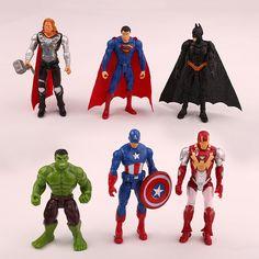The Avengers cm figurines super hero jouet poupée Captain America superman batman thor Iron man Hulk enfants cadeau Spiderman, Batman Et Superman, Iron Man Capitan America, Captain America, Iron Men, The Avengers, Thor Marvel, Infinity War, Iron Man Superhero
