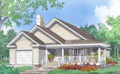 The Jamison House Plan 1182 sq. ft. 2 bedroom two bath. Open concept.