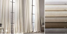 Belgian Opaque Linen Window Drapery   RH
