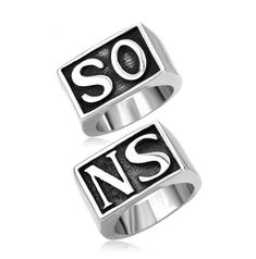 Sons of Anarchy Rings Jewelry Fashion Stainless Steel Punk Rings