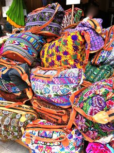 Colourful bags in Playa Del Carmen, Mexico