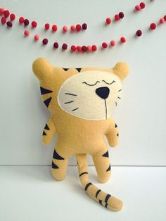Antonio the tiger by virginiejolie via Etsy