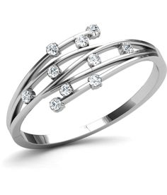 5a568cef5 Layla Rose Silver Ring By Caratlane