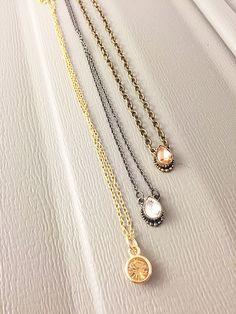 teardrop necklace, silver necklace, charm necklace, teardrop, gold necklace, dainty necklace, everyday necklace, bridesmaid necklace
