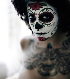 Day of the Dead face - perhaps an excellent Halloween costume?