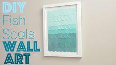 DIY Fish Scale Wall Art