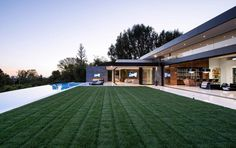 """Bel Air contemporary home, Bel Air, California. """"Situated in one of the most desired areas in Bel Air, 864 Stradella Road is where privacy and Industrial Home Design, Industrial House, Bel Air, Modern Villa Design, Hollywood Hills, Pool Houses, Decoration, Modern Architecture, Luxury Homes"""