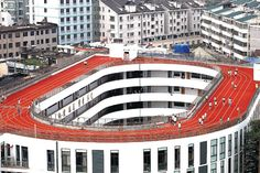 School Running Track Sports Innovative Rooftop Design