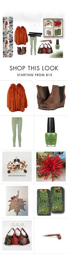 """Winter wear"" by keepsakedesignbycmm on Polyvore featuring Dolce&Gabbana, SOREL, Current/Elliott, OPI, Samsung, etsy, jewelry, accessories and smallshops"