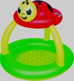 UV Careful Lady Bug Ladybug Sun Shade Soft Inflatable Baby Pool H2O Go Bestway #Bestway