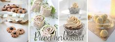Pienet herkkusuut Mini Cupcakes, Feta, Food And Drink, Place Card Holders, Desserts, Food Ideas, Tailgate Desserts, Deserts, Postres