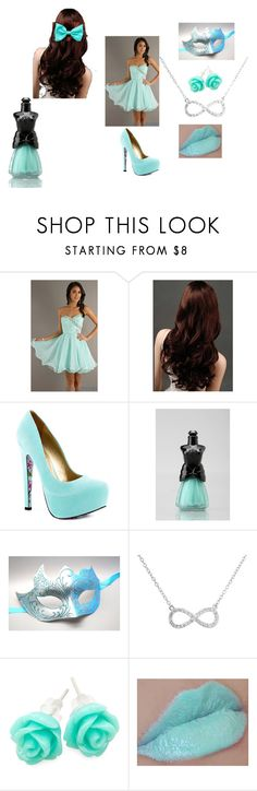 """""""Masquerade ball (Short Mint Green)"""" by maxinehearts ❤ liked on Polyvore featuring Mori Lee, TaylorSays, Anna Sui, Masquerade and Pop Cutie"""