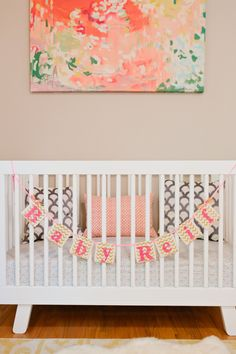 Beautiful modern pink and gold nursery