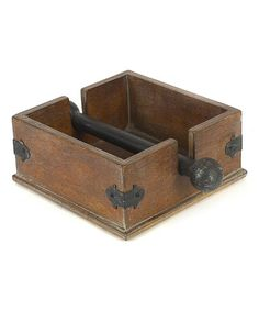 Keep neatly folded table napkins in place with our Dorian Napkin Holder. A fine example of farmhouse decor, this wood napkin holder exudes rustic character with its distressed look and metal accents. Unlike vertical holders where napkins may slip out Cocktail Napkin Holder, Cocktail Napkins, Woodworking Projects Diy, Wood Projects, Countertop Organization, Wood Napkin Holder, B 13, Pallet Creations, Creative Co Op