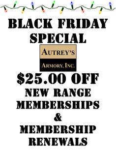 Memberships $25.00 OFF!!!!