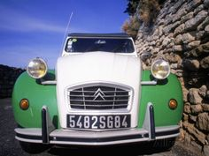 Citroen Car, Provence, France Fotoprint