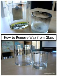 How to Remove Wax from Glass - DIY Inspired - Best Image Portal Deep Cleaning Tips, House Cleaning Tips, Cleaning Solutions, Cleaning Hacks, Diy Hacks, Cleaning Products, Remove Wax, How To Remove, Remove Stains