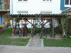 A start to the idea of a bike rack