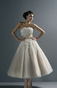 Great HuffPost article about tea-length wedding dresses! CC: KN