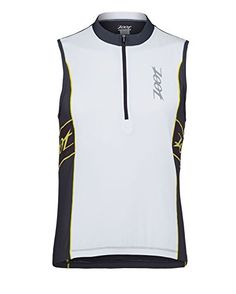 Zoot Mens Performance Tri Sleeveless Jersey WhitePewter Small >>> Learn more by visiting the image link.