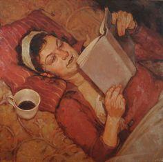 "Joseph Lorusso ""Her Story"" - Oil  - #reading #books"