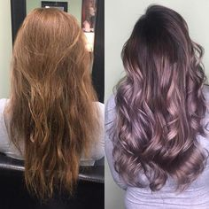 She gave life to her client's hair! #Hairbestie @ashetonsilvers Total transformation! using @guy_tang #Mydentity Dusty Lavender & Silver Smoke Colors #Hairbestiesforlife #HB4L #Evolve Together