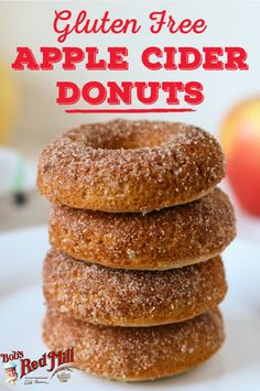 Gluten Free Apple Cider Donuts These homemade, gluten free donuts are as easy to make as they are delicious! They make for a yummy breakfast on cool, autumn morning. Gluten Free Doughnuts, Gluten Free Sweets, Gluten Free Cakes, Gluten Free Baking, Dairy Free Recipes, Gluten Free Dairy Free Donut Recipe, Air Fryer Recipes Gluten Free, Donuts Donuts, Gluten Free Chocolate