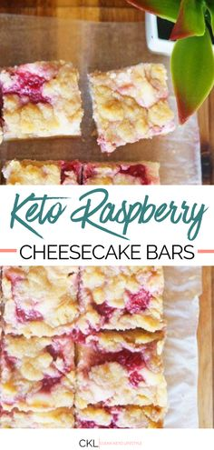 These Keto Raspberry Cheesecake Almond Bars are the perfect keto-fied dessert for your next party They are keto low-carb grain-free gluten-free treat made to share with family and friends ketodessert ketobars almondbars lowcarbdessert glutenfreedessert # Desserts Keto, Keto Friendly Desserts, Dessert Recipes, Health Desserts, Keto Snacks, Carb Free Desserts, Breakfast Recipes, Keto Dessert Easy, Picnic Recipes