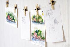 DIY card display, tutorial by Alicia Sivertsson / Korthängare, beskrivning av Alicia Sivertsson