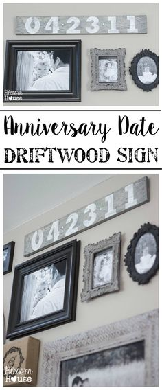 Anniversary Date Driftwood Sign | Bless'er House If you ever get the urge to whip up a faux driftwood anniversary sign for yourself, here's how I made ours. #driftwoodsign #walldecor