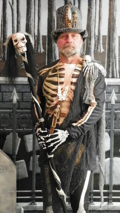 skeleton voodoo costume